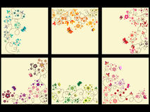 Floral background set Royalty Free Stock Photos