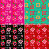 Floral background set Stock Images
