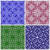 Floral background. Set of abstract seamless patterns. Floral geometric background. Set of abstract seamless patterns Royalty Free Stock Photo
