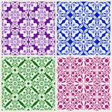 Floral background. Set of abstract seamless patterns. Floral geometric background. Set of abstract seamless patterns Royalty Free Stock Photography