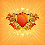 Floral background shield Royalty Free Stock Photos