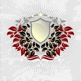 Floral background shield Stock Images