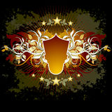 Floral background shield. Abstract floral background shield, vector illustration, this illustration may be usefull as designer work Royalty Free Stock Image
