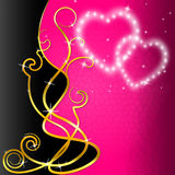 Floral Background Shows Valentine's Day And Artwork Stock Images