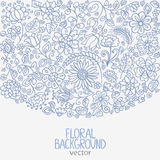 Floral background. Silhouette beautiful and delicate floral background for design Royalty Free Stock Images