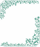 Floral background. Simple frame with natural pattern Stock Photos