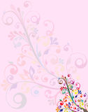 Floral background with space for text. Colorful  Floral background with space for text Stock Images