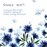 Floral background with space for text, watercolor style Stock Photos