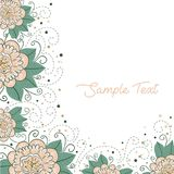 Floral background with space for your text Stock Photo