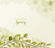Floral background, spring theme, greeting card.  royalty free illustration