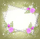 Floral background with stars Stock Photography