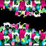 Floral background. Stylish colorful floral background. Vector illustration Stock Images