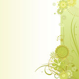 Floral background in sulfur Stock Photo