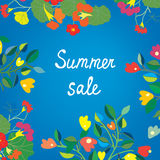 Floral background for summer or spring sale Stock Image