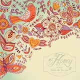 Floral background, summer theme, greeting card. Template design Stock Photography