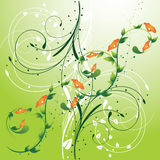 Floral Background with Swirls Stock Photo