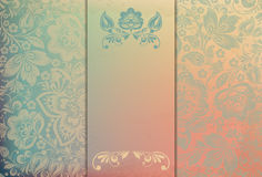 Floral background template vector/illustration Royalty Free Stock Photography