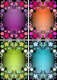 Floral background for text stock photos