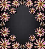 Floral background for text stock image