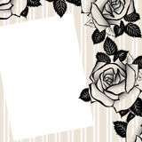 Floral background for text cmyk. Romantic background with roses fo your text royalty free illustration
