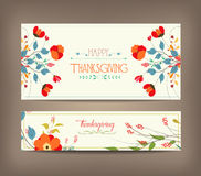 Floral background thanksgiving greeting card Stock Photography