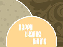 Floral background with thanksgiving tex Royalty Free Stock Photos