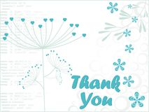 floral background with thankyou tex Stock Photo