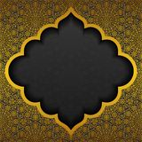 Floral background with traditional ornament. Vector illustration Stock Photography