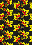 Floral  background in traditional Russian Khokhloma style Royalty Free Stock Images