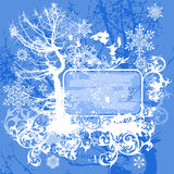 Floral background & tree Stock Images