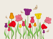 Floral background with tulips Stock Photography