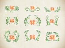 Floral background. Ukrainian folk art. Abstract elegance pattern with floral background stock illustration