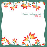 Floral background up down Stock Photos