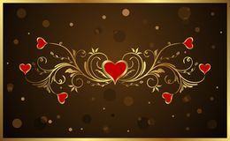 Floral background for Valentine's day Stock Images