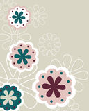 Floral background - vector. Illustration of a flower background,useful as invitation or greeting card.EPS file available Stock Images