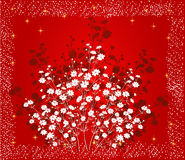 Floral Background - vector. Floral Background in red - vector Stock Images