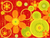 Floral Background - vector. Floral Background in red - vector Royalty Free Stock Image