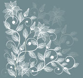 Floral background in vector. Elements of design seamless backgrounds, plants and flowers in vector Royalty Free Stock Photo
