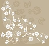 Floral background in vector. Abstract Vintage Floral Background in vector. Old-styled Texture Stock Photography
