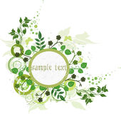 Floral Background - vector. Floral Background with circles - vector Royalty Free Stock Photo