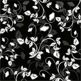 Floral Background - vector. Floral Background  in black and white - vector Royalty Free Stock Photo