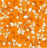 Floral Background - vector. Floral Background  in orange - vector Stock Photo