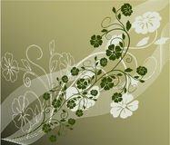 Floral Background - vector. Floral Background in green - vector Royalty Free Stock Photos