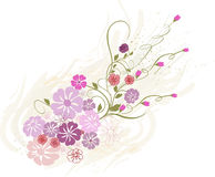 Floral Background - vector. Background with tender flowers  - vector Stock Photos
