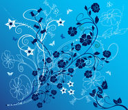 Floral Background - vector. Background with flowers and butterflies - vector Royalty Free Stock Photo