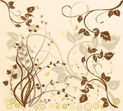 Floral Background - vector. Floral Background with circles - vector Stock Photos