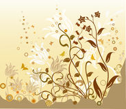 Floral Background - vector. Floral Background with butterflies - vector Stock Image