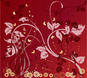Floral Background - vector. Floral Background with butterflies- vector Stock Images