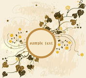 Floral Background - vector. Grunge floral frame background - vector Royalty Free Stock Photo