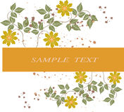 Floral Background - vector. Abstract, accent, art Royalty Free Stock Images